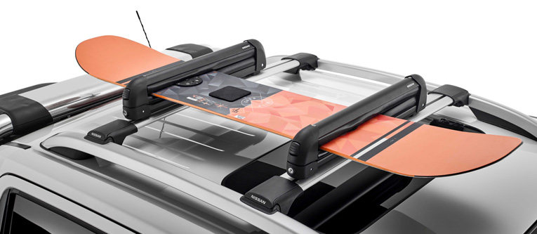 "<img src=""Roof Bar Accessories: Ski/Snowboard Carrier"
