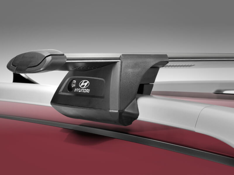 Hyundai genuine roof racks-through.