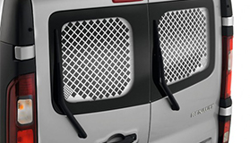 Rear window protection grille - swinging doors