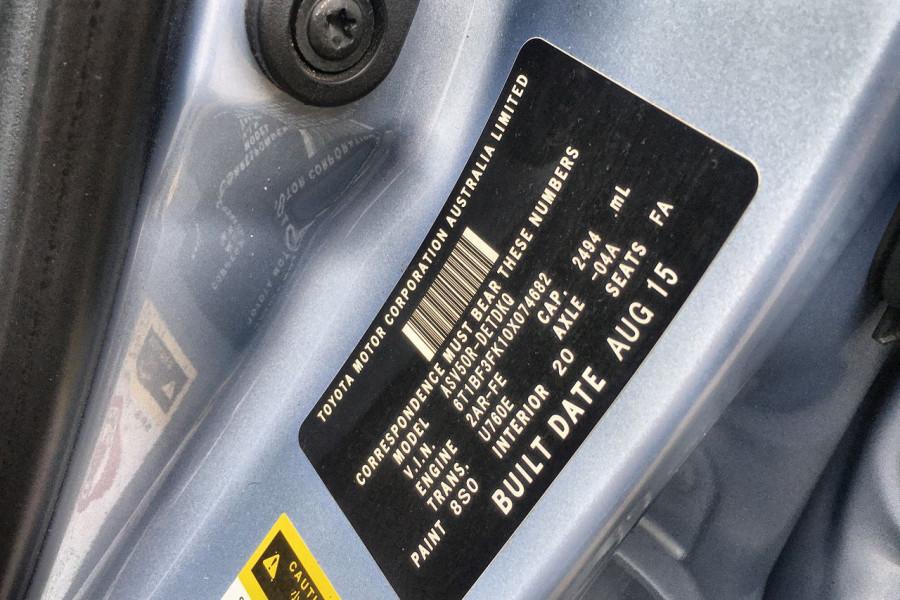 2015 Toyota Camry ASV50R Altise Sedan Image 15