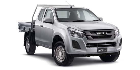 2018 Isuzu UTE D-MAX -- 4x4 SX Space Cab Chassis Space cab