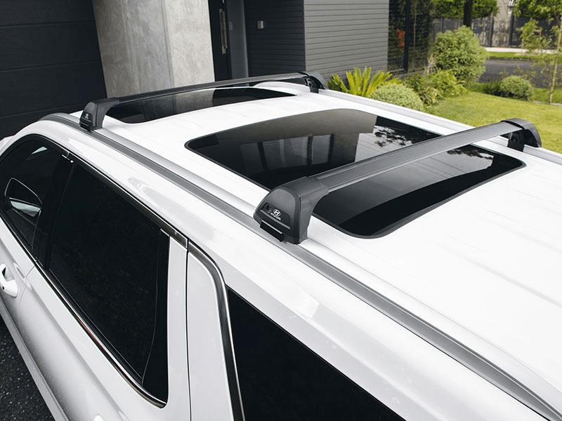 Hyundai genuine roof racks - flush