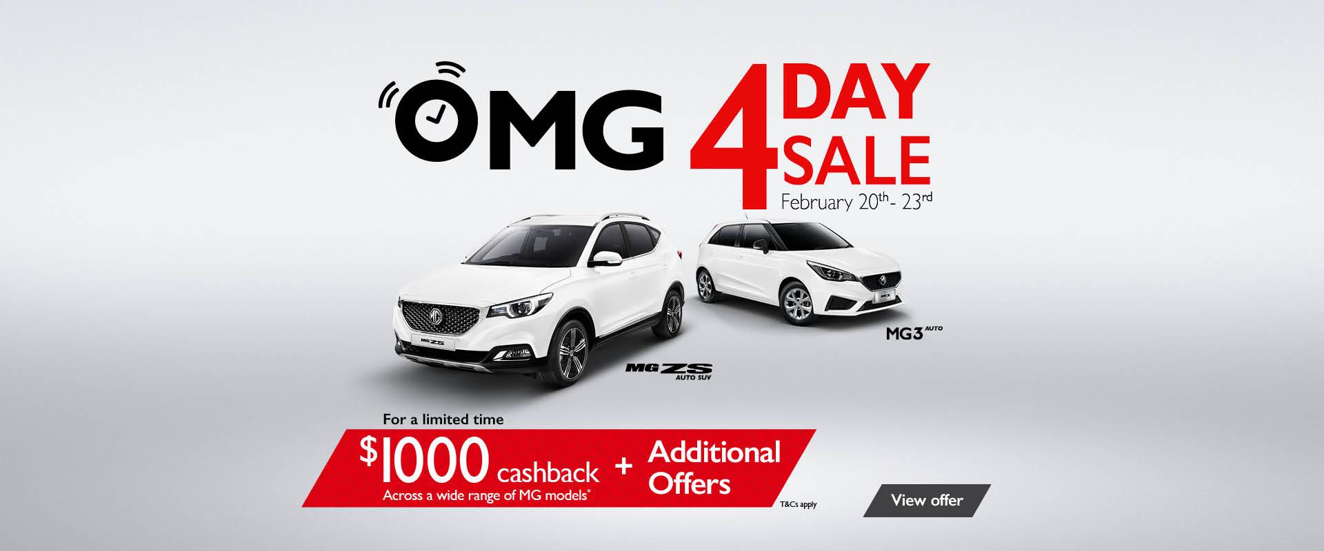 OMG 4 Day Sale Macarthur MG