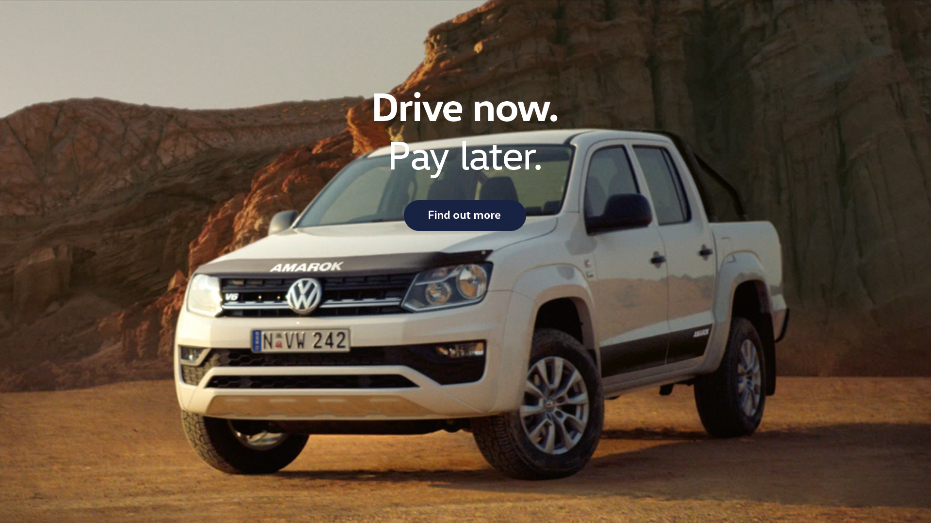 Volkswagen Amarok. Drive now. Pay later. Test drive today