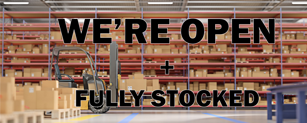 Our Parts Store is OPEN + Fully Stocked