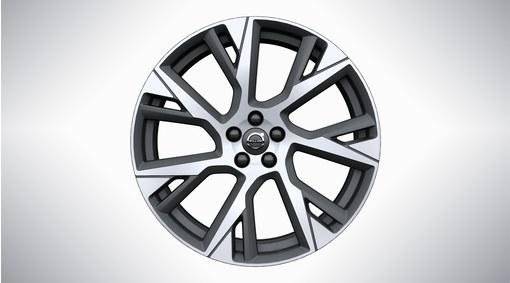 """21"""" 7 -Open Spoke Matt Tech Black Diamond Cut Alloy Wheel - C006"""