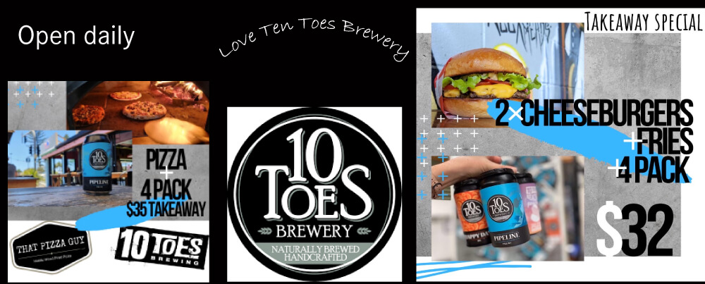Ten toes – Beer + Burger Takeaway Special