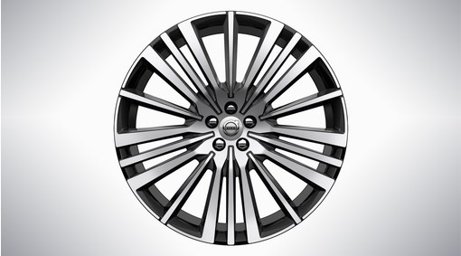 "22"" 20-Spoke Black Diamond Cut Alloy Wheel – 800147"