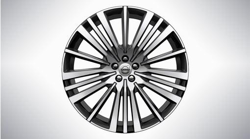 "22"" 20-Spoke Black Diamond Cut Alloy Wheel – 800147"
