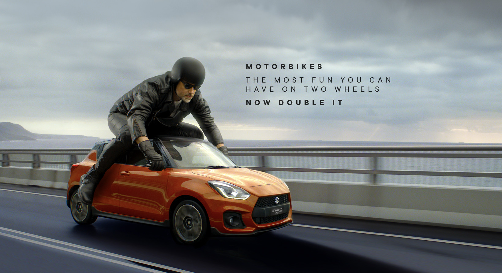 Suzuki - Motorbikes. The most fun you can have on two wheels. Now double it.