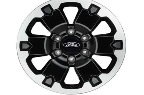 "<img src=""18"" Alloy Wheel 6 Spoke Gloss Black with Machined Face (set of 4)"