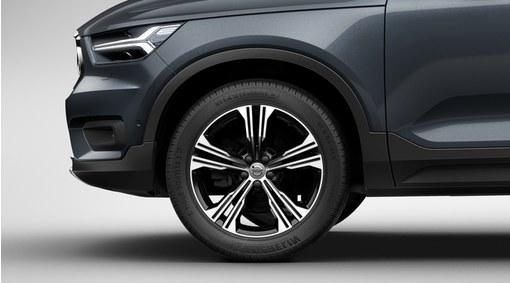 """Complete wheels, 19"""" 5-Double Spoke Black Diamond Cut - C924"""