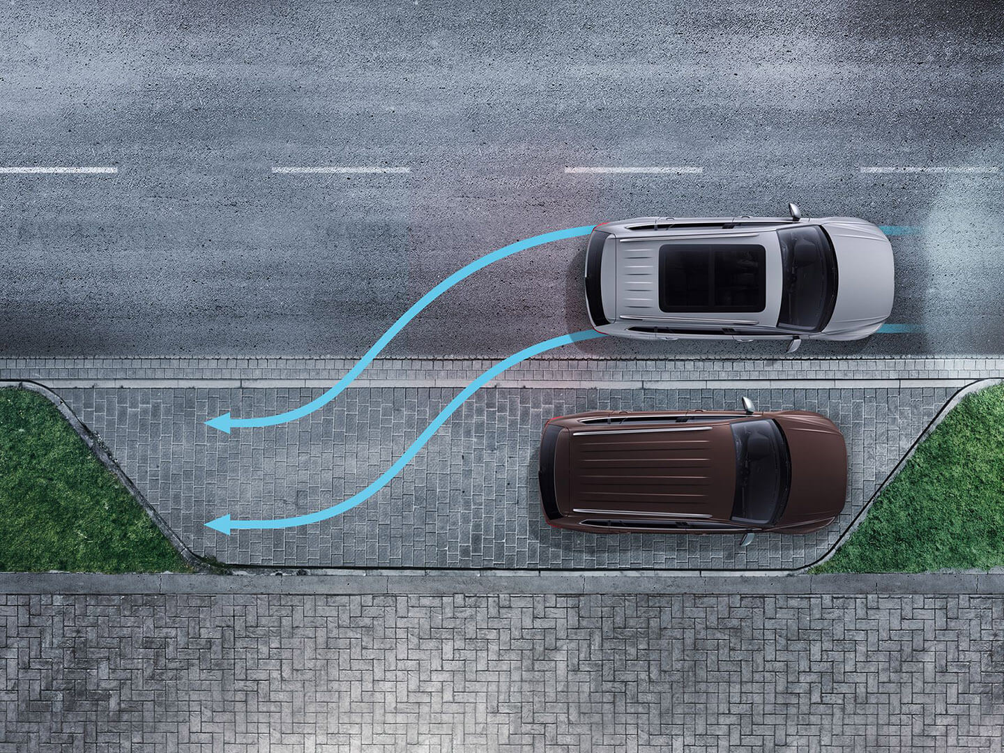 Scratch-free parking Manoeuvre Braking Image