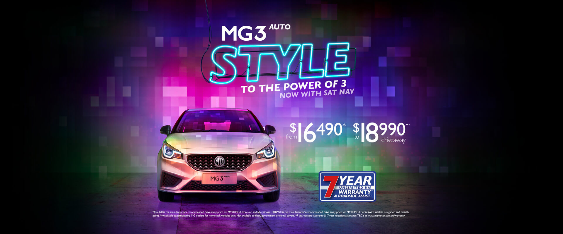 MG3 Auto Style to the power of 3 now with sat nav