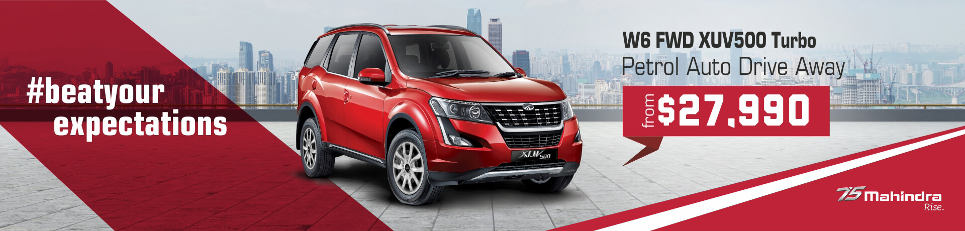Beat your expectations with the Mahindra w6 FWD XUV500 Turbo