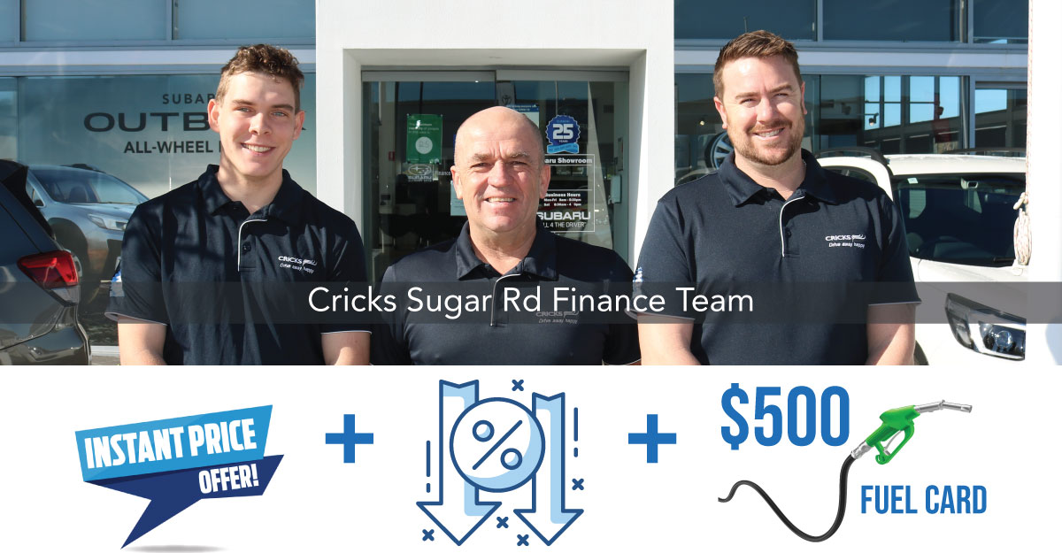 THERE'S NEVER BEEN A BETTER TIME TO FINANCE YOUR NEXT CAR WITH CRICKS
