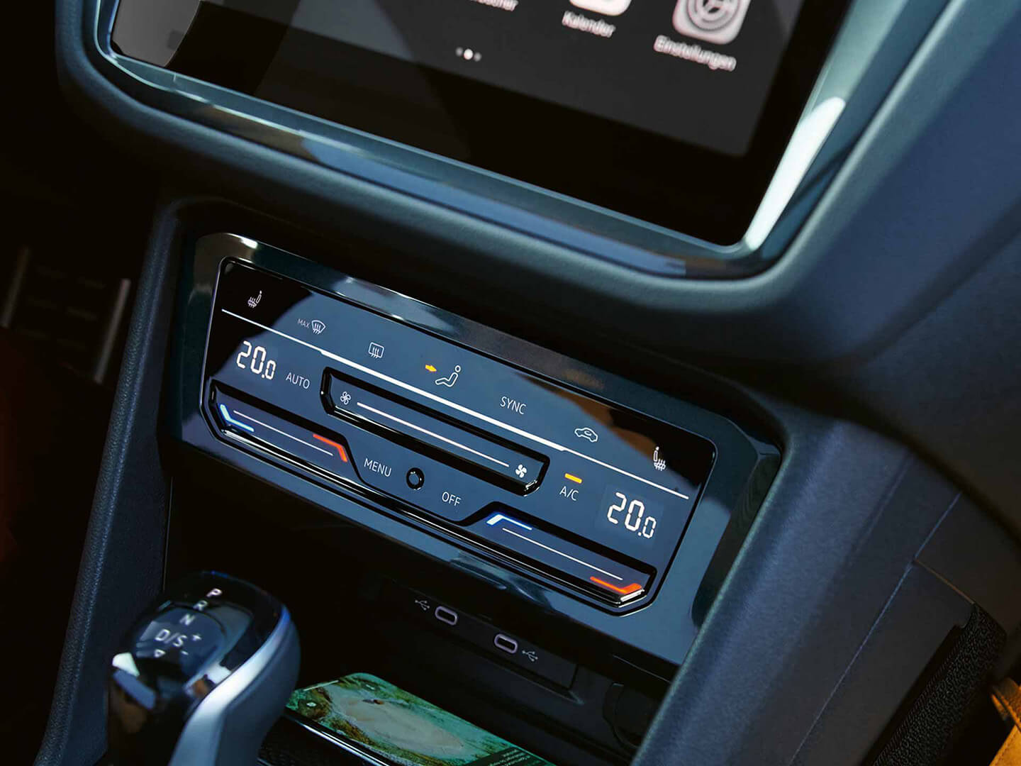 Slide into comfort Touch Climate Controls Image