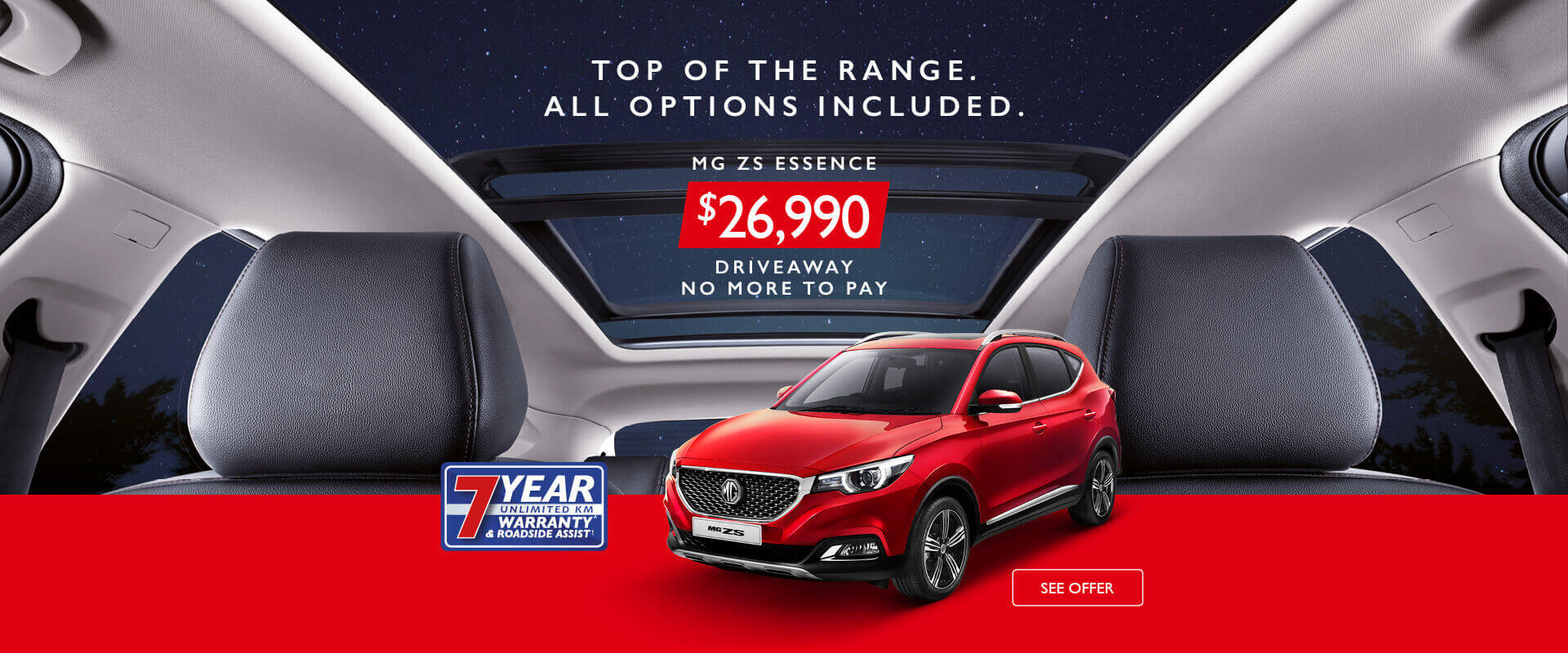 MG ZS Essence Offer
