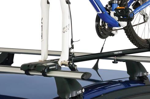 "<img src=""Rhino-Rack roof top Mountain Trail bike carrier"