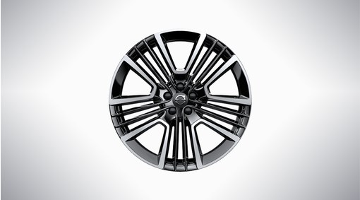 "21"" 5-Triple Open Spoke Black Diamond Cut - W011"