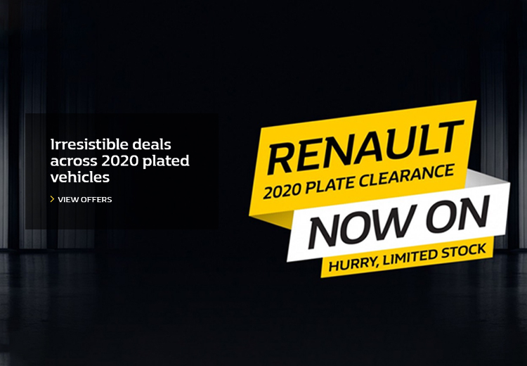 Renault 2020 Plate Clearance Now On - Hurry, Limited Stock