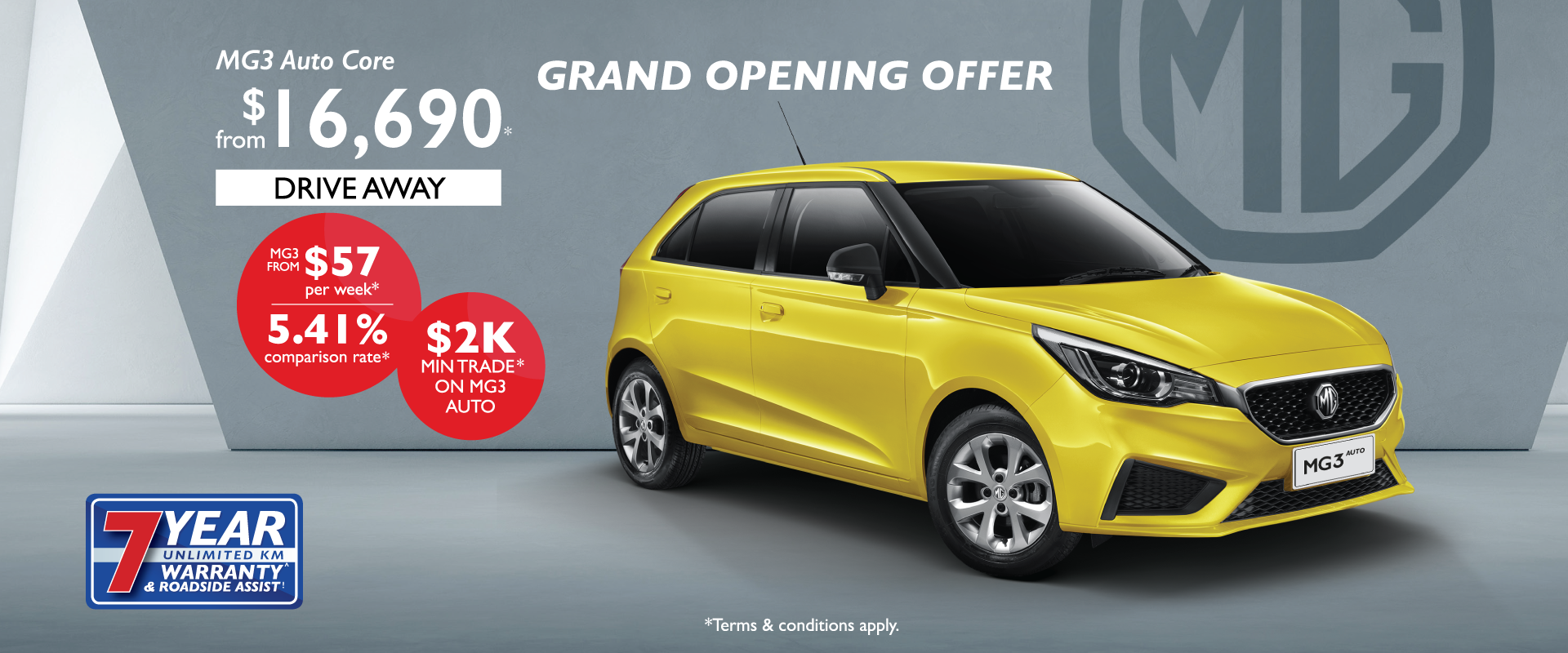 MG3 Grand Opening Finance Offer