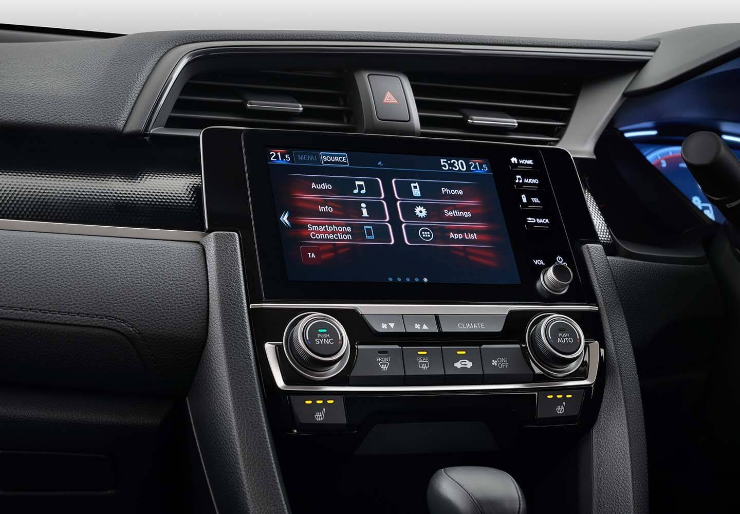 Civic Sedan 7-inch Display