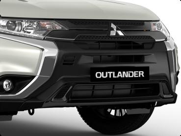 Black grille & front bumper Image
