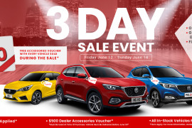 MG 3 DAY SALE EVENT - EXCLUSIVE TO MG PARRAMATTA