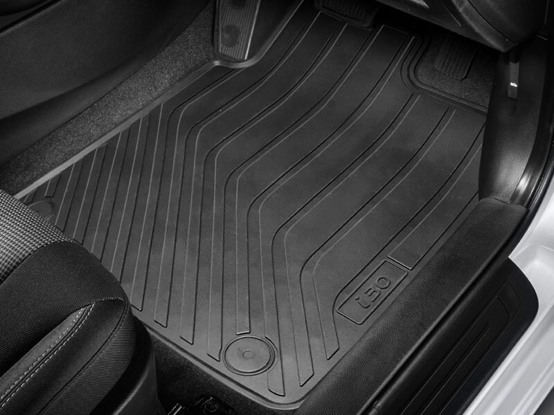 Tailored rubber floor mats (set of 4).