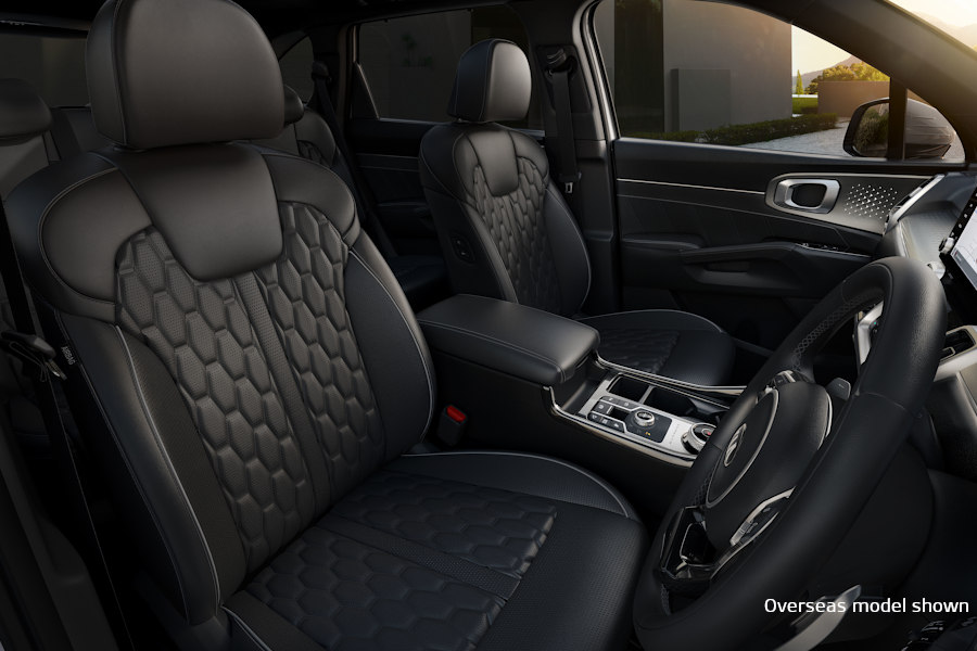 Sorento Quilted Nappa leather appointed seats