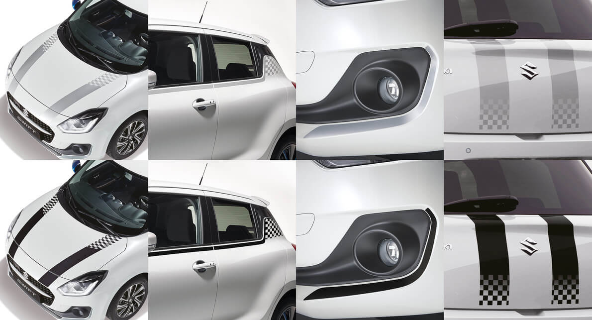 Swift Body Decal Set (Silver or Black)