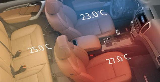 H9 TRI-ZONE CLIMATE CONTROL
