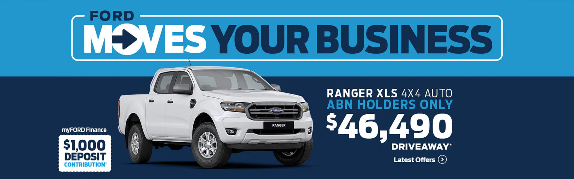 Ford moves your business. Ranger XLS 4x4 Auto