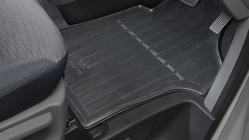 Tailored rubber floor mats.