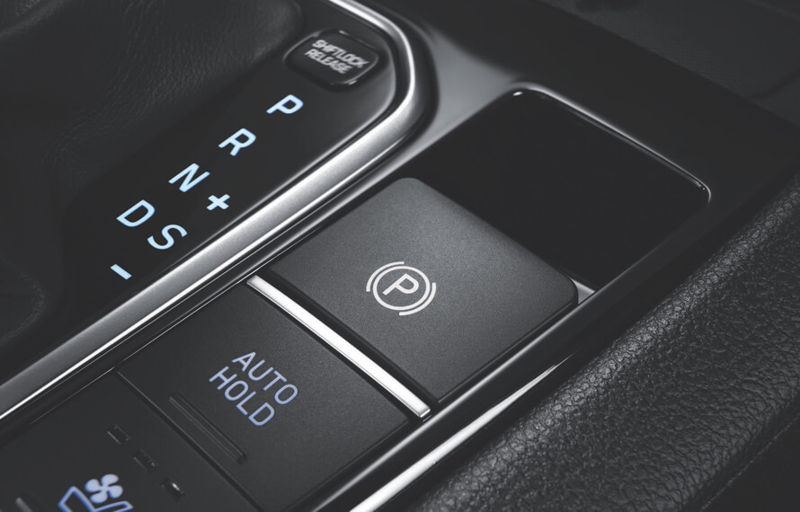 IONIQ Plug-In Hybrid Electronic Parking Brake (EPB) with auto-hold function.