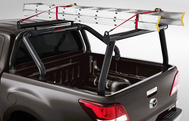 BLACK LADDER RACK