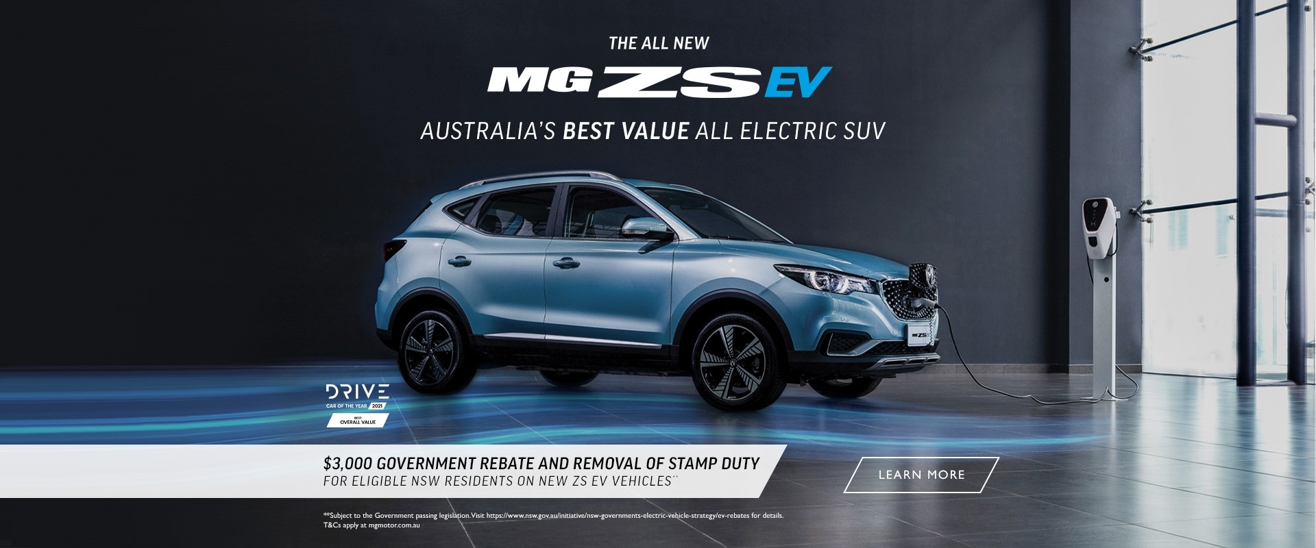 $3,000 government rebate and removal of stamp duty for eligible NSW residents on new ZS EV vehicles**