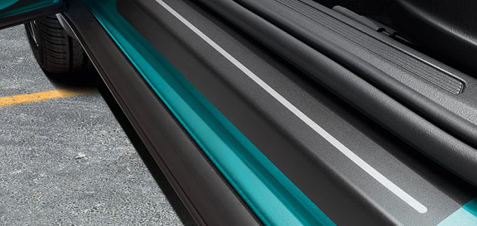 Door sill protection film