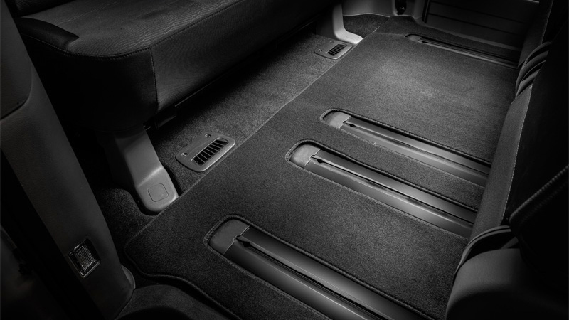 Tailored carpet floor mats (third row only).