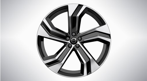 "22"" 5-Double Spoke Black Diamond Cut Alloy Wheel - 1096"