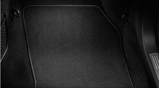 Mat, passenger compartment floor, textile