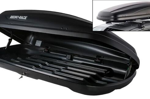 """<img src=""""Rhino Rack roof luggage box - 410L (Black)"""