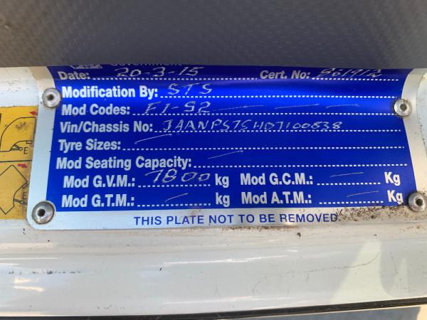 2014 Isuzu N Series NH NPS Cab chassis