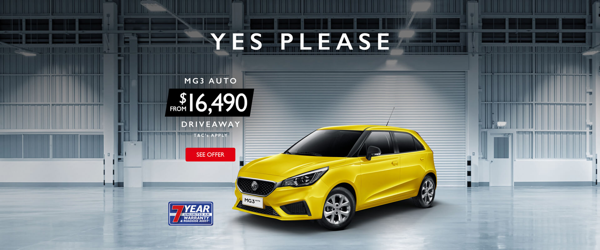 MG3 Auto from $16,490 Driveaway