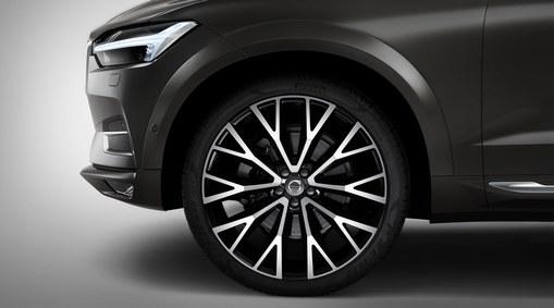 """Complete wheels, 22"""" 10-Open Spoke Black Diamond Cut - C009"""