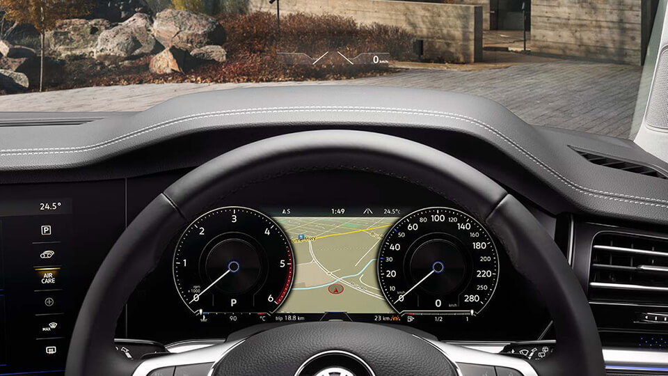 Optional Windscreen Projected Head-Up Display<sup>1</sup> Image