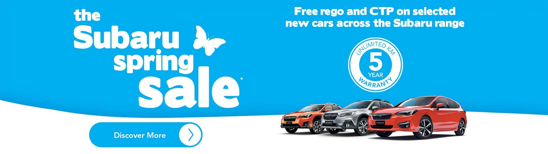 Subaru Spring Offers