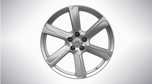 """19"""" 6-Spoke Turbine Silver Alloy Wheel - 177"""