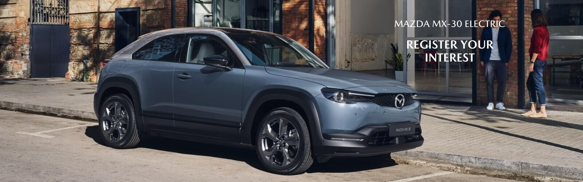 Mazda MX-30 Electric. Register Your Interest.